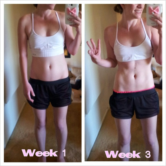 Body Revolution- My progress so far! (week 3)