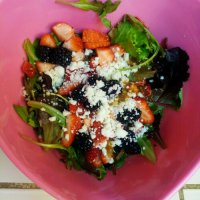 3 minute summer fruit salad!