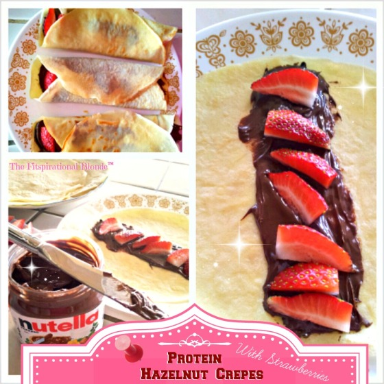 Protein Hazelnut Crepes Collage