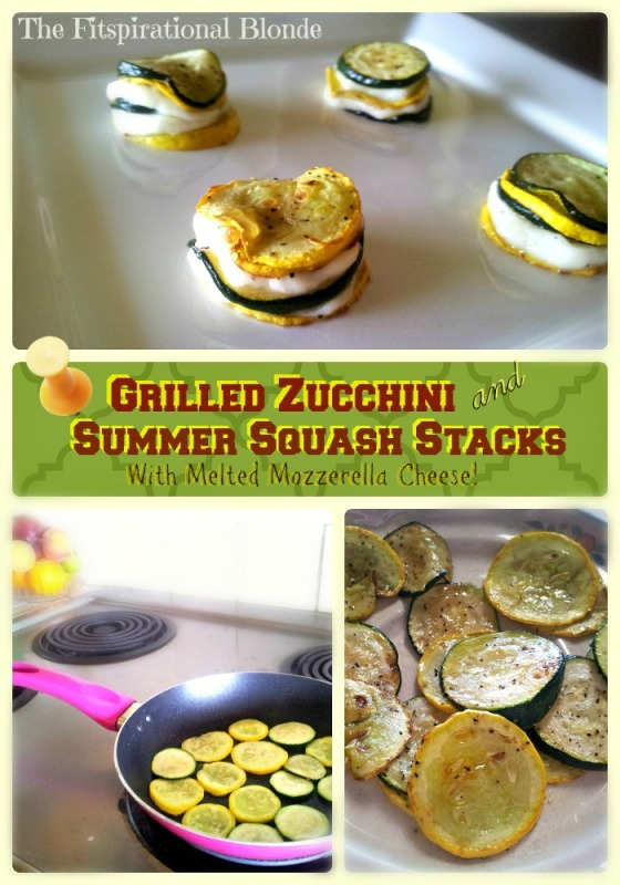 Zuchinni squash stacks collage